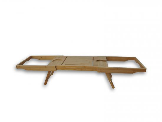 Bamboo Folding Bathtub Shelf